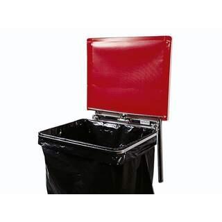 Väggfast säckhållare med plastlock | 60 liter