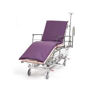 Patient- og nødvogn 3-delt, hydraulisk, styrehåndtag